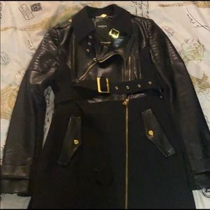 Faux leather Bebe coat